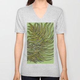 Green Leafy Zen Leaf Unisex V-Neck