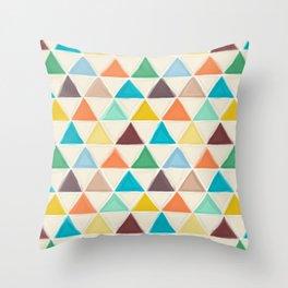 Portland triangles Throw Pillow