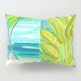 caribe beach and garden Pillow Sham
