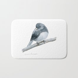 The Bashful Black-Eyed Junco by Teresa Thompson Bath Mat