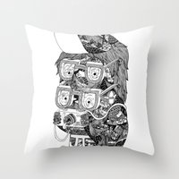 hipster Throw Pillows featuring hipster by Jess John