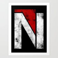 n7 Art Prints featuring N7 new logo by BomDesignz
