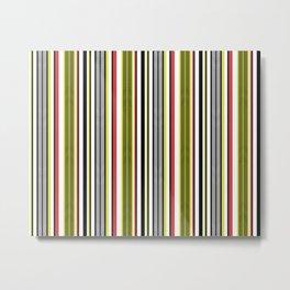 Aztec Fishbone Stripe Metal Print