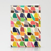 ikat Stationery Cards featuring ikat weave by Sharon Turner