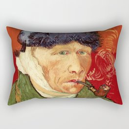Vincent van Gogh Self-portrait with Bandaged Ear and Pipe Rectangular Pillow