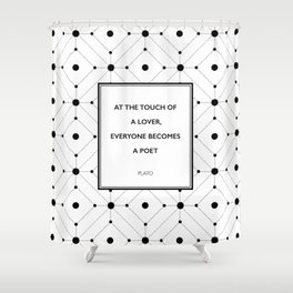 Plato - Touch of a Lover Shower Curtain