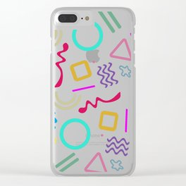 Back to the 80's Clear iPhone Case