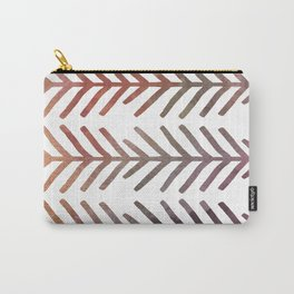 This Way Up, Rainbow Fishbone Pattern Carry-All Pouch