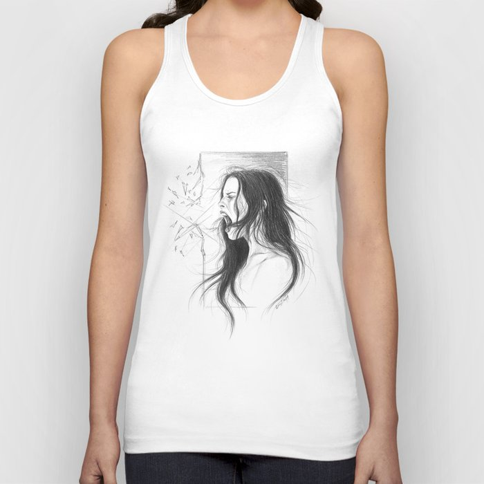 Pain into anger Unisex Tank Top