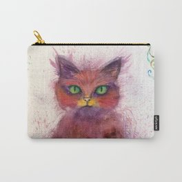 Green Eyes Colorful Cat Carry-All Pouch