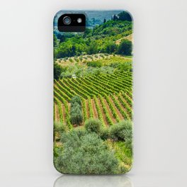 Tuscany Hillside, San Gimignano, Italy iPhone Case