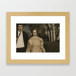 Television On Mute Framed Art Print
