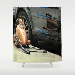 The Shape Of Things To Go Shower Curtain