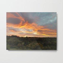 Sunrise over Sleights Metal Print