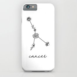 Cancer Floral Zodiac Constellation iPhone Case