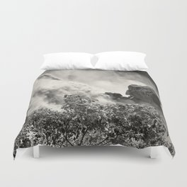Strength against the waterfall Duvet Cover