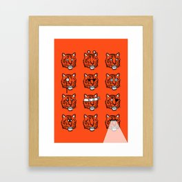 Eyes Of The Tiger Framed Art Print