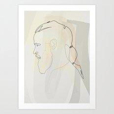 Oneline Vikings: Ragnar Lothbrok Art Print