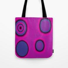 pink and purple circles abstract Tote Bag