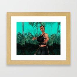 Survivor shot Framed Art Print