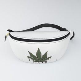 Melting Cannabis Leaf | Marijuana THC CBD Stoner Fanny Pack