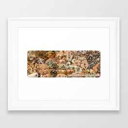 Friends with Wood Framed Art Print
