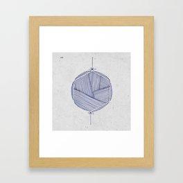 Hexacircle 2 Framed Art Print