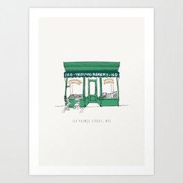 New York City NYC Bakery Art Print