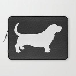 Basset Hound Silhouette(s) Laptop Sleeve
