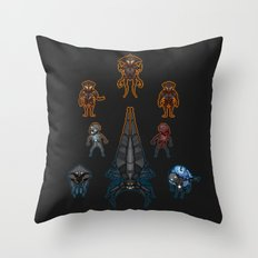 Mass Effect 2 Baddies Throw Pillow