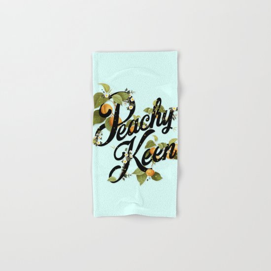 Peachy Keen : Mint Hand & Bath Towel