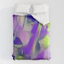 Heavenly Rose Petals Abstract - Purple Comforters