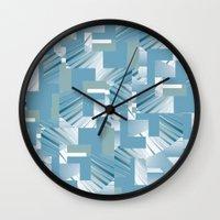 data Wall Clocks featuring Data I by dominiquelandau