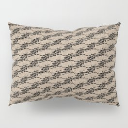 Cedar Waxwings in a Pear Tree with Nest - Rattan and Black Pillow Sham