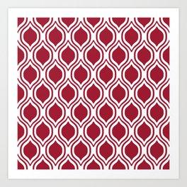 Crimson and white Alabama pattern university of alabama crimson tide college Art Print