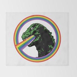 Rainbow Lizard Throw Blanket