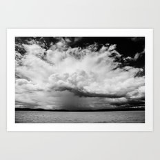 white clouds Art Print