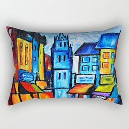 By The Old Church Rectangular Pillow