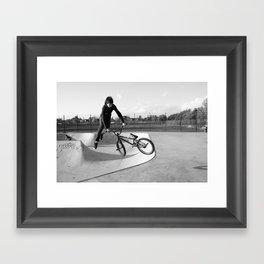 BMX Aerial Framed Art Print
