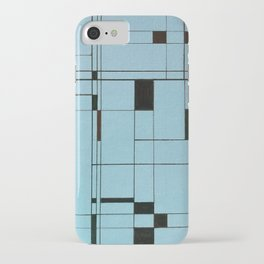 All About Mondrian (ice blue) iPhone Case