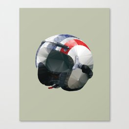Tag Heuer Steve McQueen Cafe Racer Helmet Polygon Art Canvas Print