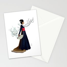 Modern Woman in Kimono Stationery Cards
