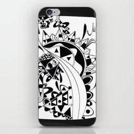 white Triangle iPhone Skin