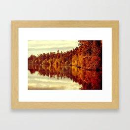 RIVER AUTUMNAL REFLECTION Framed Art Print