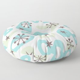 Retro Mid Century Modern Spaced Out Composition 332 Floor Pillow