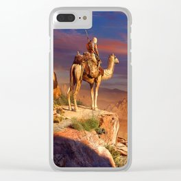 Camel Rider Clear iPhone Case