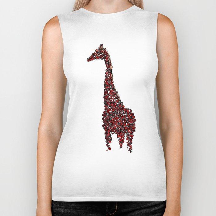 Red Giraffe Biker Tank