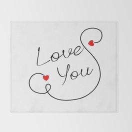 Love You Throw Blanket