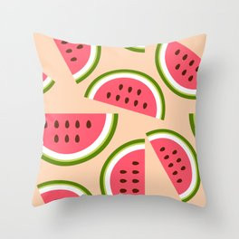 Watermelon pattern Throw Pillow