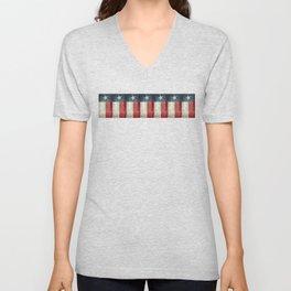 Vintage Texas flag pattern Unisex V-Neck